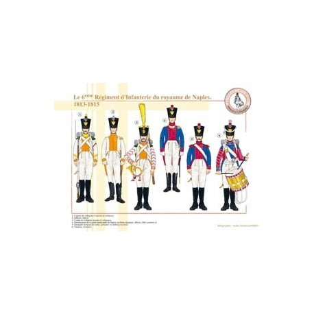 The 6th Infantry Regiment of the Kingdom of Naples, 1813-1815