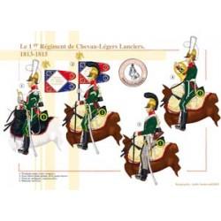 Das französische 1. Regiment von Chevau-Légers Lanciers, 1813-1815