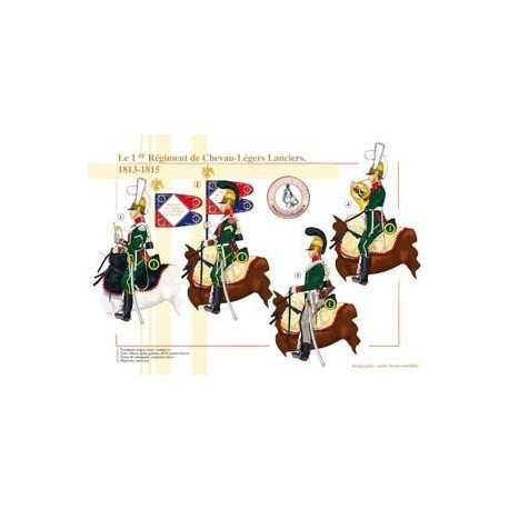 Le 1er Régiment de Chevau-Légers Lanciers, 1813-1815