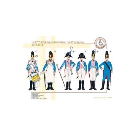 Le 5ème Régiment d'Infanterie, von Preysing (2), 1810-1814