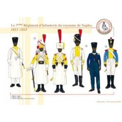 Das 7. Infanterieregiment des Königreichs Neapel, 1813-1815