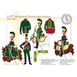 Le 4ème régiment de Chevau-Légers Lanciers, 1811-1815