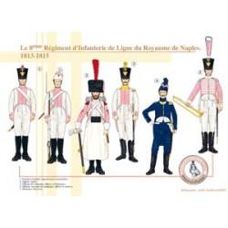Das Infanterieregiment der 8. Linie des Königreichs Neapel, 1813-1815
