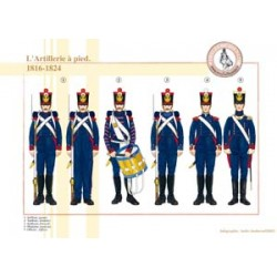 Die französische Fußartillerie, 1816-1824