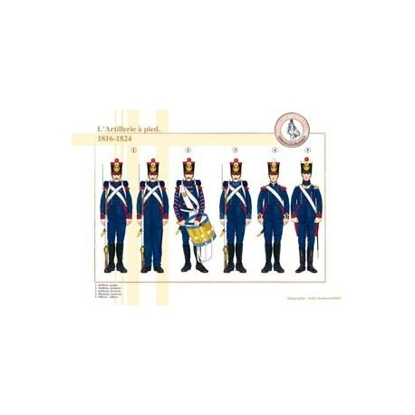 L'Artillerie à pied, 1816-1824