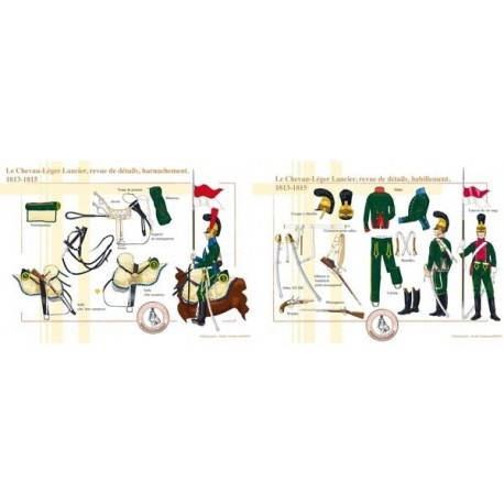 """The French """"Chevau-Léger Lancier"""", review of details, harness and clothing, 1813-1815"""