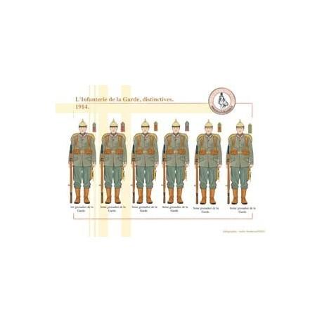 L'Infanterie de la Garde prussienne, distinctives, 1914