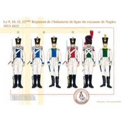 Das 9, 10, 11, 12. Regiment der Linieninfanterie des Königreichs Neapel, 1813-1815