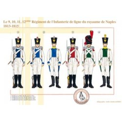 Le 9, 10, 11, 12ème Régiment de l'Infanterie de ligne du royaume de Naples, 1813-1815