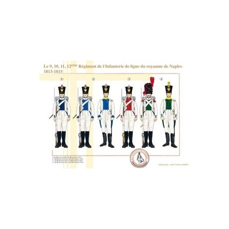 The 9, 10, 11, 12th Regiment of the Line Infantry of the Kingdom of Naples, 1813-1815