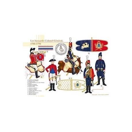 Les Hussards Colonel-Général, 1786-1791