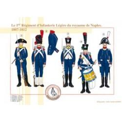 Le 1er Régiment d'Infanterie légère du royaume de Naples, 1807-1812