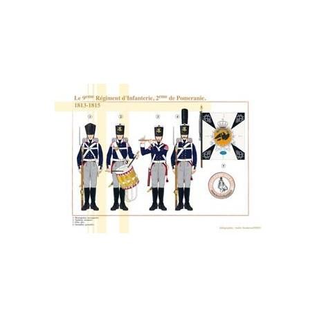 Das 9. Infanterieregiment, 2. von Pommern, 1813-1815
