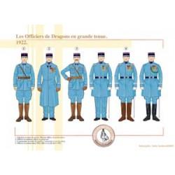 Les Officiers de Dragons en grande tenue, 1922