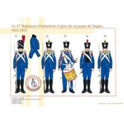 Das 1. Regiment der leichten Infanterie des Königreichs Neapel, 1812-1815