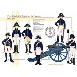 L'Artillerie du Royaume de Prusse, 1800-1807