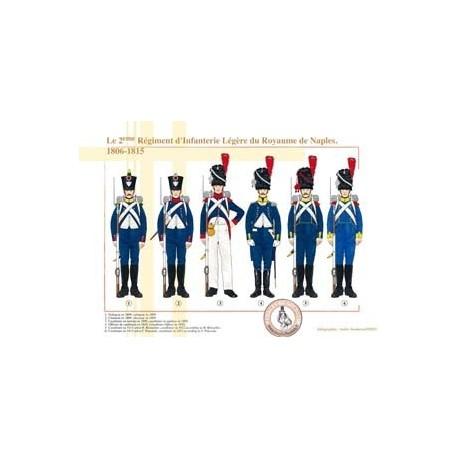 Le 2ème Régiment d'Infanterie Légère du Royaume de Naples, 1806-1815
