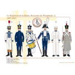 Le Régiment de la Reine, Royaume de Westphalie (2), 1807-1812