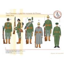 Les Chasseurs à pied du royaume de Prusse, 1908-1914