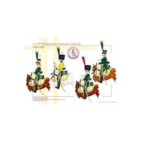Le 4ème Régiment de Chasseurs à Cheval, 1804-1808