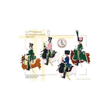 Le 7ème Régiment de Chasseurs à cheval, 1806-1810