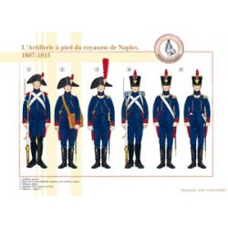 L'Artillerie à pied du royaume de Naples, 1807-1815