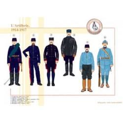 Französische Artillerie, 1914-1917