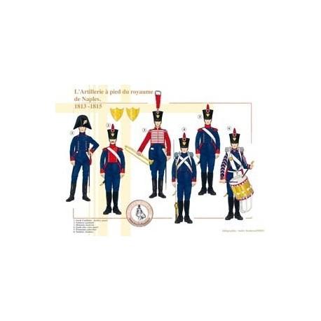 L'Artillerie à pied du royaume de Naples, 1813-1815