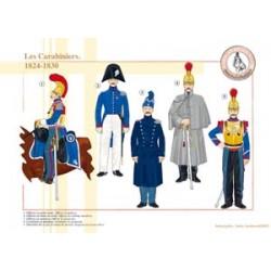 Les Carabiniers français, 1824-1830