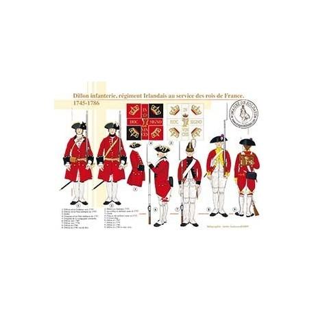 Dillon infanterie, régiment irlandais au service des rois de France, 1745-1786