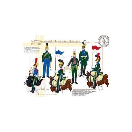 Le 5ème régiment de Chevau-Légers Lanciers, 1811-1815