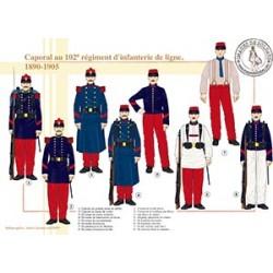 Caporal au 102e régiment d'infanterie de ligne, 1890-1905