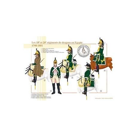 Les 18ème et 20ème régiments de dragons en Egypte, 1798-1801