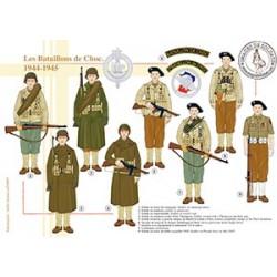 Les Bataillons de Choc, 1944-1945