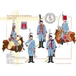 Les hussards d'Esterhazy, 1786-1791