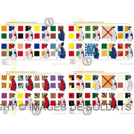 Les drapeaux de l'infanterie royale en 1757 (2/4)