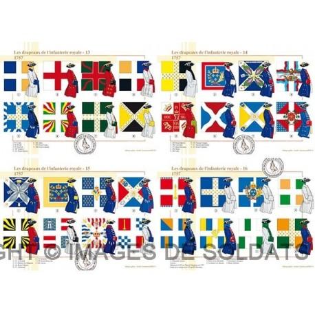 Les drapeaux de l'infanterie royale en 1757 (4/4)