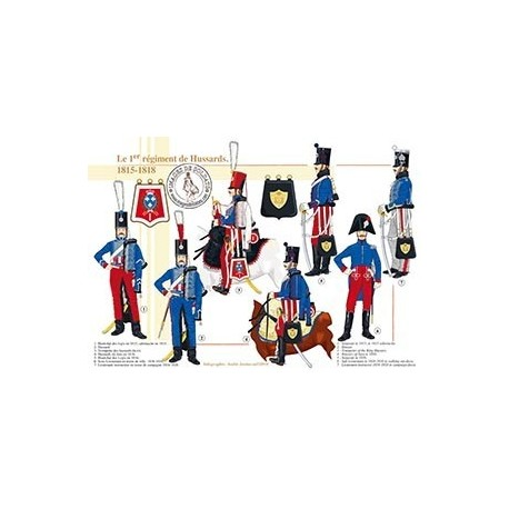 Le 1er régiment de Hussards, 1815-1818