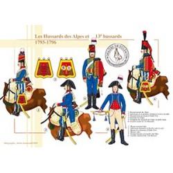 Les Hussards des Alpes et 13e Hussards, 1793-1796