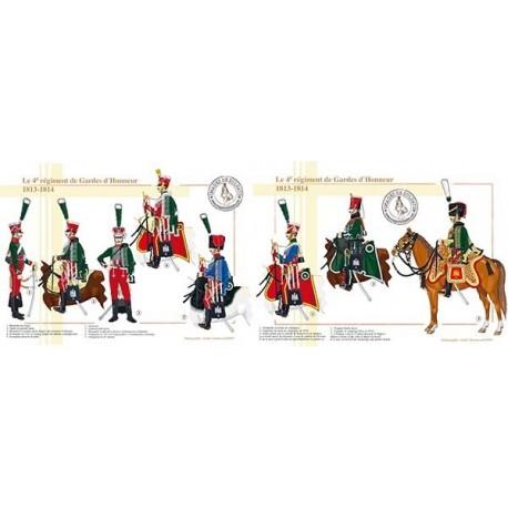 Le 4ème régiment de Gardes d'Honneur, 1813-1814