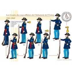 Les Grades des sous-officiers de l'Infanterie de l'Union, 1861-1865