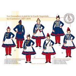 Les Grenadiers à pied de la Garde Impériale, les Cantinières, 1857-1870