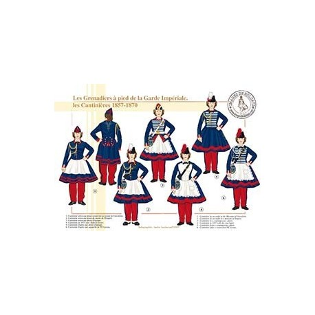 Les Grenadiers à pied de la Garde Impériale, les Cantinières, 1860-1870