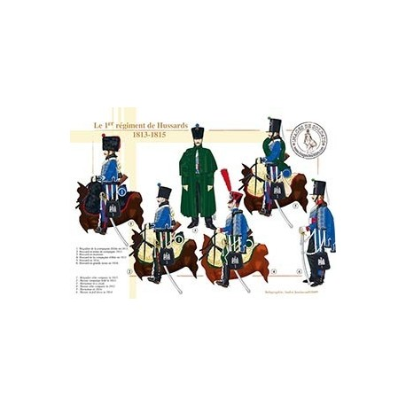 Le 1er régiment de Hussards, 1813-1815