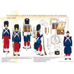 Le Grenadier à pied de la Garde Impériale en tenue de campagne, 1857-1860