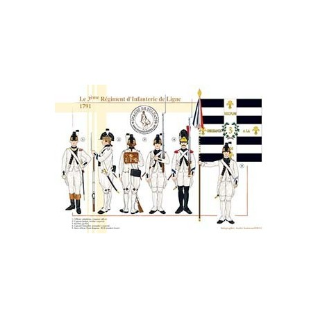 Le 3ème Régiment d'Infanterie de Ligne, 1791