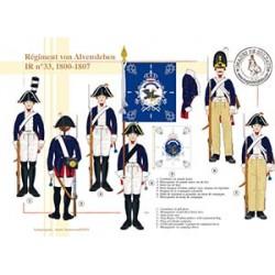 Régiment von Alvensleben IR N°33, 1800-1807