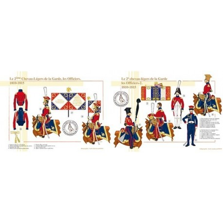 Le 2ème Chevau-Légers de la Garde, les Officiers, 1810-1815