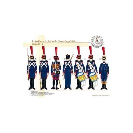 L'Artillerie à pied de la Garde Impériale, 1808-1810