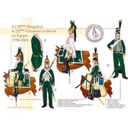 Les 15e Dragons et le 22ème Chasseurs à cheval en Egypte, 1798-1801